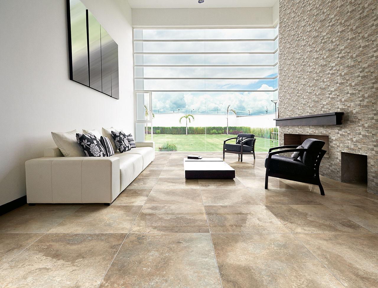 Muretto In Pietra Interno pavimento effetto pietra naturale e marmo per interni ed